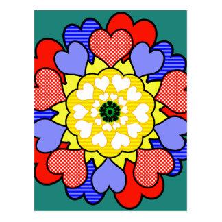Autism Awareness Friendship Flower - Postcard