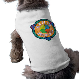 Autism Awareness Graphic Badge Dog Tank Top Sleeveless Dog Shirt