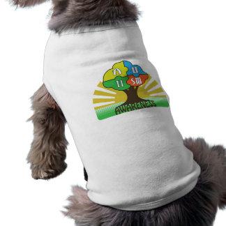 Autism Awareness Graphics Sleeveless Dog Shirt