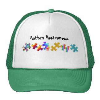 Autism Awareness Green White Hats