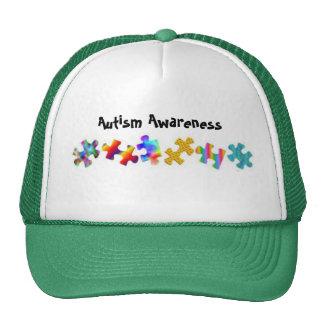 Autism Awareness (Green/White) Trucker Hats