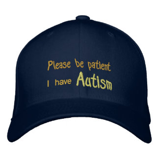 Autism Awareness Hat with name and phone on back Baseball Cap