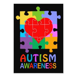 Autism Awareness Heart 5x7 Paper Invitation Card