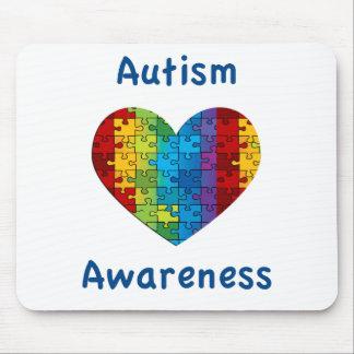 Autism Awareness Heart Mouse Pad