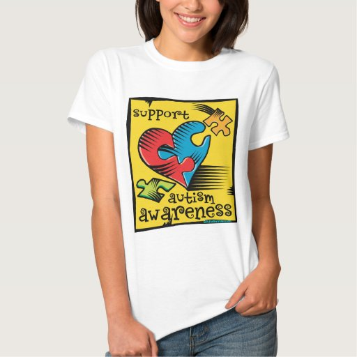 Autism Awareness Heart Puzzle Pieces T-shirt