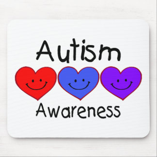 Autism Awareness (Hearts) Mouse Pad
