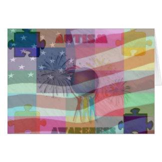 Autism Awareness In America Card