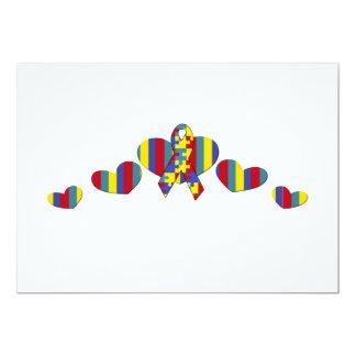 autism awareness 5x7 paper invitation card