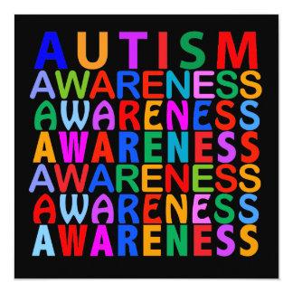 Autism Awareness 5.25x5.25 Square Paper Invitation Card