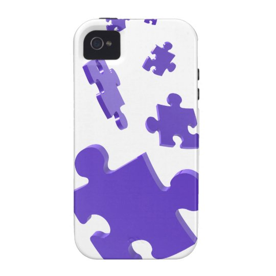 Autism Awareness iPhone 4 Case Falling Blue Puzzle