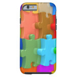 Autism Awareness iPhone 6 case 3D Multicolor Puzzl Tough iPhone 6 Case