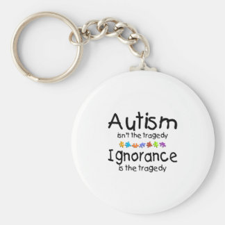 Autism Awareness Isnt The Tragedy Basic Round Button Key Ring