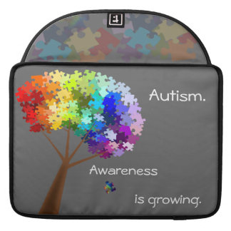 Autism Awareness Monogram Flap Sleeve