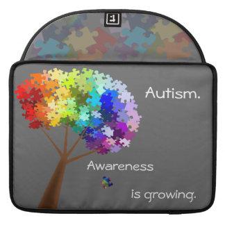 Autism Awareness Monogram Flap Sleeve Sleeves For MacBook Pro