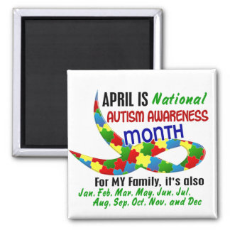 AUTISM AWARENESS MONTH APRIL MAGNET