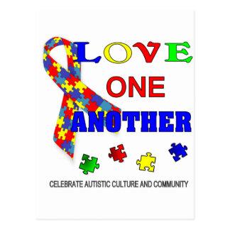 Autism awareness Month Logo Postcard