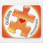 Autism Awareness Mousepad - Orange