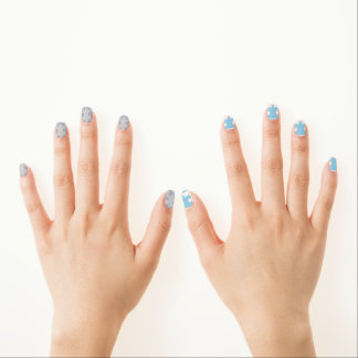 Autism Awareness Nail Shields Minx Nail Art