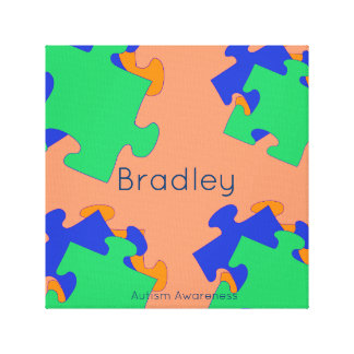 Autism Awareness Name Wall Decor Canvas Print