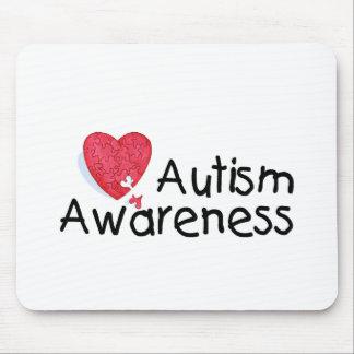 Autism Awareness (P Hrt 2) Mouse Pad