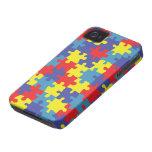 Autism Awareness Pattern iPhone 4 Case