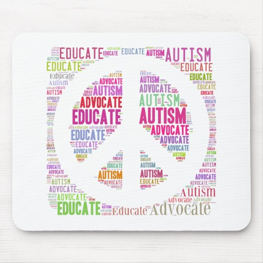 Autism Awareness Peach Products Mouse Mat