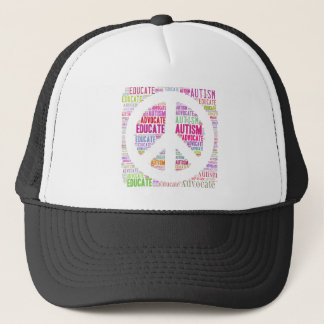 Autism Awareness Peach Products Trucker Hat