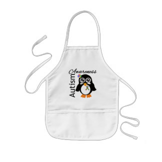 Autism Awareness Penguin Kids Apron