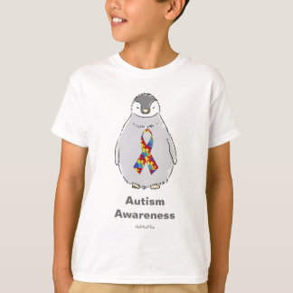 Autism Awareness Penguin T-Shirt