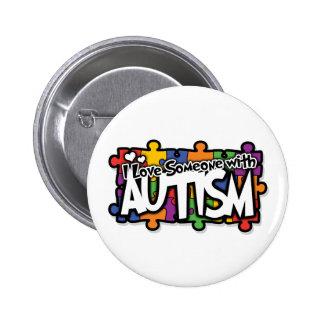 Autism Awareness Puzzle 6 Cm Round Badge