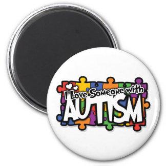 Autism Awareness Puzzle 6 Cm Round Magnet