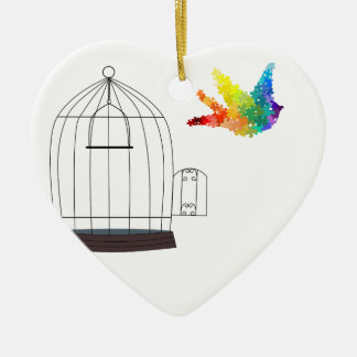 Autism Awareness Puzzle Bird Ornament