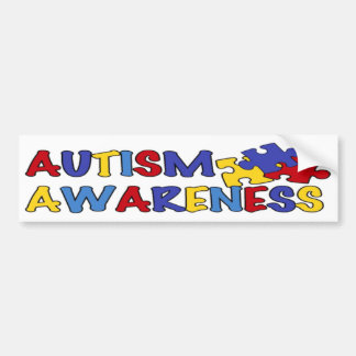 Autism Awareness Puzzle Bumper Sticker