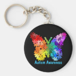 Autism Awareness Puzzle Butterfly Keychain