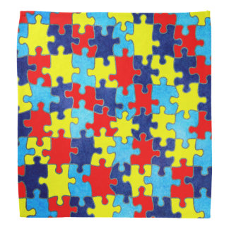 Autism Awareness-Puzzle by Shirley Taylor Bandanas