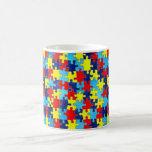 Autism Awareness-Puzzle by Shirley Taylor Basic White Mug