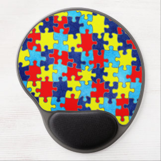 Autism Awareness-Puzzle by Shirley Taylor Gel Mouse Mat