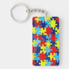 Autism Awareness-Puzzle by Shirley Taylor Key Ring