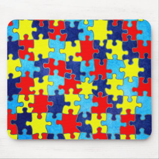 Autism Awareness-Puzzle by Shirley Taylor Mouse Pad