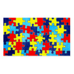 Autism Awareness-Puzzle by Shirley Taylor Pack Of Standard Business Cards