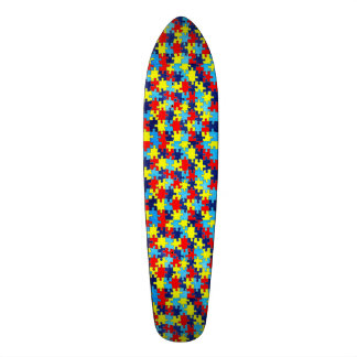 Autism Awareness-Puzzle by Shirley Taylor Skate Boards