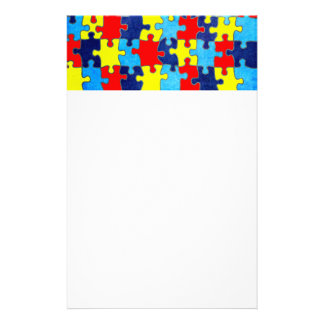 Autism Awareness-Puzzle by Shirley Taylor Stationery Design