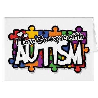 Autism Awareness Puzzle Card