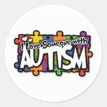 Autism Awareness Puzzle Classic Round Sticker