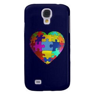 Autism Awareness Puzzle Heart Galaxy S4 Case