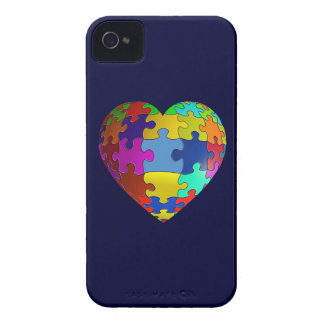 Autism Awareness Puzzle Heart iPhone 4 Case-Mate Cases