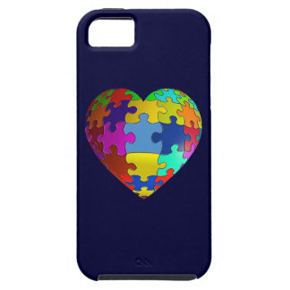 Autism Awareness Puzzle Heart iPhone 5 Case