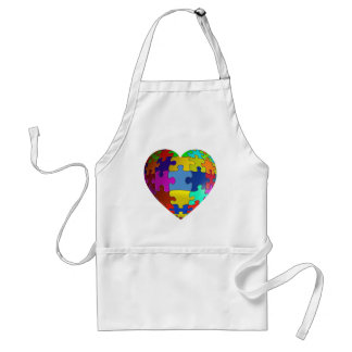 Autism Awareness Puzzle Heart Standard Apron