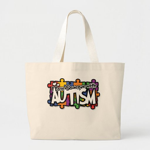 Autism Awareness Puzzle Jumbo Tote Bag