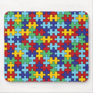 Autism Awareness Puzzle Pattern Mouse Mat